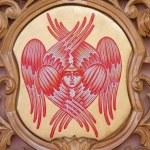 BRUGES, BELGIUM - JUNE 13, 2014: The cherub symbolic on the iconostasis in st. Constanstine and Helena orthodox church (2007 - 2008). — Stock Photo #48966363