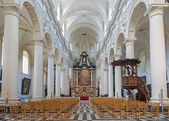 BRUGGE, BELGIUM - JUNE 12, 2014: Saint Walburga church. — Foto de Stock