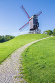 Bruges - Wind-mill Sint Janshuismolen — Stock Photo