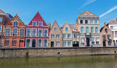 Bruges - typicaly house from Sint Annarei street. — Stock Photo