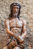 MECHELEN - SEPTEMBER 4: Statue of Jesus in the bond in Basilica of the Holy bold. — Stock Photo