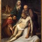 Постер, плакат: BRUSSELS BELGIUM JUNE 15 2014: The Depositioin of the cross by Jean Baptiste van Eycken 1809 1853 in Notre Dame de la Chapelle