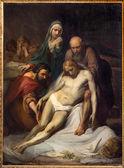 BRUSSELS, BELGIUM - JUNE 15, 2014: The Depositioin of the cross by Jean Baptiste van Eycken (1809 - 1853) in Notre Dame de la Chapelle — Stock Photo