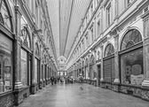 BRUSSELS, BELGIUM - JUNE 16, 2014:  Royal Galeries of st. Hubert. The galleries was opened in year 1846. — Stock Photo