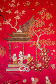 SAINT ANTON, SLOVAKIA - FEBRUARY 26, 2014: Detail from tapestry in the Chinese saloon from 19. cent. in palace Saint Anton. — Stock Photo