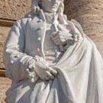 ROME, MARCH - 21, 2012: Statue of Neapolitan philosopher Giambattista Vico from facade of Palazzo di Giustizia by Emilio Gallori. — Stock Photo #49385413