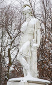VIENNA, AUSTRIA - JANUARY 15, 2013: Quintus Fabius Maximus Verrucosus (280 BC ? 203 BC) was a Roman politican and general. Gardens of Schonbrunn palace. Statues was generally made between 1773 - 1780. — Stock Photo
