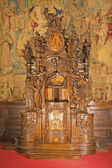 BERGAMO - JANUARY 26: Baroque confession box from cathedral Santa Maria Maggiore on January 26, 2013 in Bergamo, Italy. — Stock Photo