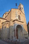 Bergamo - kathedraal santa maria maggiore in ochtend licht — Stockfoto