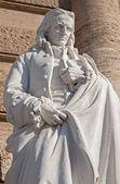ROME, MARCH - 21, 2012: Statue of Neapolitan philosopher Giambattista Vico from facade of Palazzo di Giustizia by Emilio Gallori. — Stockfoto