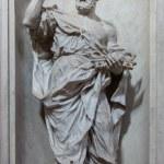 VENICE, ITALY - MARCH 11, 2014: Statue of Saint Peter (1738 - 1755) from church Santa Maria del Rosario (Chiesa dei Gesuati) by Giovani Maria Morlaiter — Stock Photo #49398733