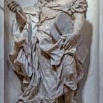 VENICE, ITALY - MARCH 11, 2014: Statue of Moses (1738 - 1755) from church Santa Maria del Rosario (Chiesa dei Gesuati) by Giovani Maria Morlaiter — Stock Photo #49398823