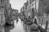 威尼斯,意大利-2014 年 3 月 13 日: fondamneta 卡 contrarini 街和运河里约麦当娜. — 图库照片