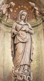 VENICE, ITALY - MARCH 13, 2014: Statue of Immaculate from church Chiesa di San Stefano - Saint Stephen. — Stock Photo