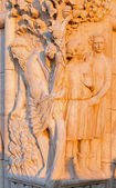 Venice - sculpture from facade of Doge palace in morning light — Stock Photo
