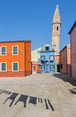 Venice - Houses and San Martin church tower from Burano island — Stock Photo