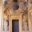 Постер, плакат: BOLOGNA ITALY MARCH 15 2014: Portals from External atrium of Archiginnasio