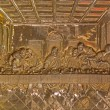 ROZNAVA, SLOVAKIA - APRIL 19, 2014: Metal relief of the Last supper of Christ from baroque main altar in the cathedral by Johannes Szilassy (1705 - 1782) — Stock Photo #49404883
