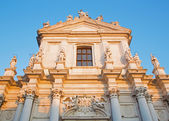 VENICE, ITALY - MARCH 13, 2014: Church Chiesa dei Gesuiti (Santa Maria Assunta) in sunset light. — Foto Stock