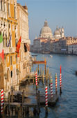 Venice - Canal grande in evening light from Ponte Accademia — Stock Photo