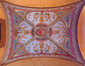 BOLOGNA, ITALY - MARCH 16, 2014: Fresco from ceiling of external corridor of Via Farini street. — Stock Photo