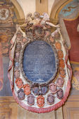 BOLOGNA, ITALY - MARCH 15, 2014: Epitaph from External atrium of Archiginnasio — Foto Stock