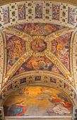 BOLOGNA, ITALY - MARCH 15, 2014: Ceiling part of presbyter of Dom or Saint Peters baroque church. — Foto Stock