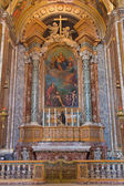 BOLOGNA, ITALY - MARCH 15, 2014: Side chapel of in Dom - Saint Peters baroque church with the paint of Madonna by M. Franceschini (1648 - 1739) — Stock Photo