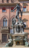Bologna - Fontana di Nettuno or Neptune fountain on Piazza Maggiore square — Stock Photo