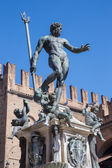 Bologna - Fontana di Nettuno or Neptune fountain on Piazza Maggiore square — Foto de Stock