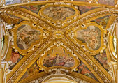 BOLOGNA, ITALY - MARCH 17, 2014: Ceilinig of presbytery in baroque church San Girolamo della certosa with the scene of Creation and Old Testament persons. — Stock Photo