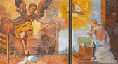 TREVISO, ITALY - MARCH 18, 2014: Fresco of Annutciation in saint Nicholas or San Nicolo church. — Stockfoto