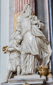 VIENNA, AUSTRIA - JULY 27, 2013: Statue of Abraham and Isaac from baroque church Maria Treu. Church was build between years 1698 bis 1719 by plans of architect Lukas von Hildebrandt. — Stock Photo