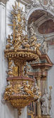 VIENNA, AUSTRIA - FEBRUARY 17, 2014: Pulpit of baroque Servitenkirche - church completed in 1670. — Stock Photo