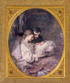 """Anton, Slovakya - 26 Şubat 2014 Aziz: """"aile lacky"""" leopold tarafından horowitz (1885) sarayında Bulgar salon saint anton. — Stok fotoğraf"""