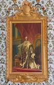 SAINT ANTON, SLOVAKIA - FEBRUARY 26, 2014: Louis XV king of France. Paint in Golden saloon in palace Saint Anton by Jacob van Loo (1614 - 1670) — Stock Photo