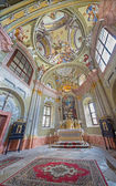 SAINT ANTON, SLOVAKIA - FEBRUARY 26, 2014: Chapel of Saint Anton palace with the frescoes by Anton Schmidt from years 1750 - 1752. — Stock Photo