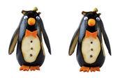 The penguin eggplant — Stock Photo