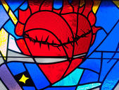 Stain Glass Heart — Stock Photo