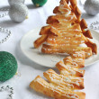 Christmas tree pastries — Stock Photo