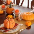 Table setting for Thanksgiving Day - Stock Photo