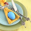 Place setting for Easter - Stock Photo