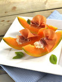 Prosciutto with melon — Stock Photo
