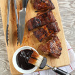 Stock Photo: BBQ ribs