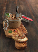 Beef liver pate with bread — Stock Photo