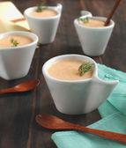 Carrot potato cream soup — Stock Photo