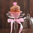 Royalty-Free Stock Photo: Valentine chocolate cupcake