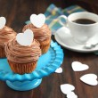Valentine chocolate cupcake — Stock Photo #18694801