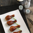 Stock Photo: Asian-marinated baked chicken