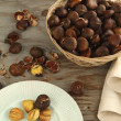 Stock Photo: Roasted chestnuts
